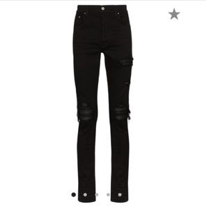 Authentic AMIRI MX1 distressed slim fit jeans